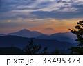 富士山 夕暮れ 夕焼けの写真 33495373
