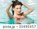 プール 女 女の人の写真 33495457