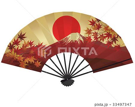 扇子(赤富士) 33497347