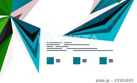 Modern triangle presentation templateのイラスト素材 [33501605] - PIXTA