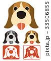 戌年 戌 犬のイラスト 33506855