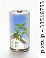 エコ電池と新芽の環境イメージ 33518753