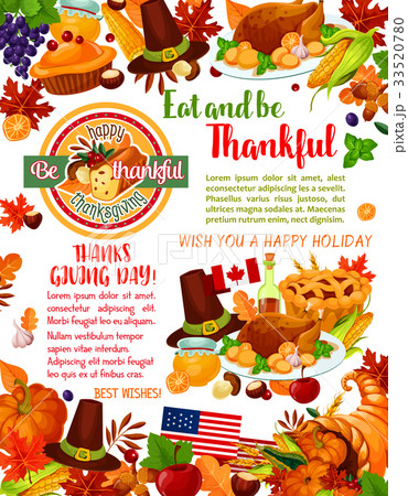 thanksgiving day holiday greeting banner templateのイラスト素材