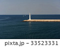 灯台 防波堤 済州島の写真 33523331