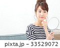 女性 ビューティー 鏡の写真 33529072