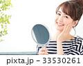 女性 ビューティー 鏡の写真 33530261