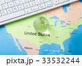 地図とパソコン 33532244