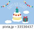 誕生日 2歳 メッセージカードのイラスト 33536437
