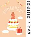 誕生日 2歳 メッセージカードのイラスト 33536438