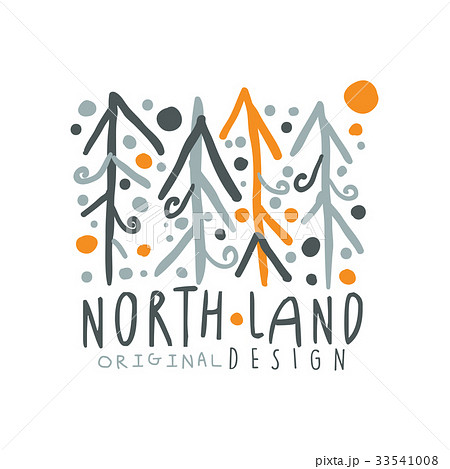 noth land logo template original design badge forのイラスト素材