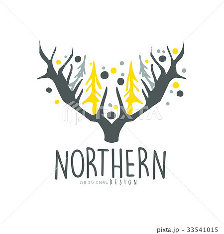 nothern logo template original design badge forのイラスト素材