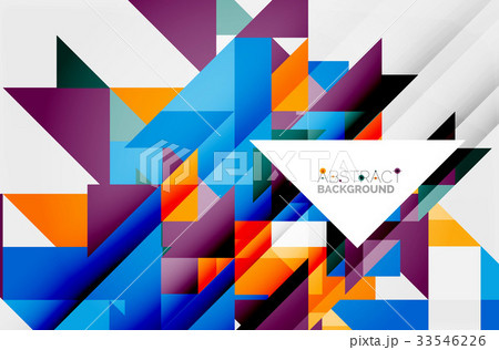 Triangle pattern design backgroundのイラスト素材 [33546226] - PIXTA