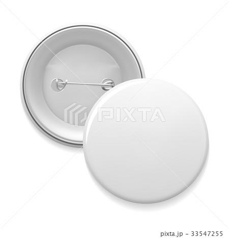 empty pin badge templateのイラスト素材 33547255 pixta