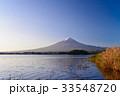 河口湖 富士山 夜明けの写真 33548720