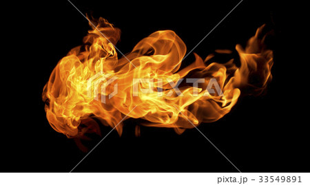 Fire flames on a black background 33549891