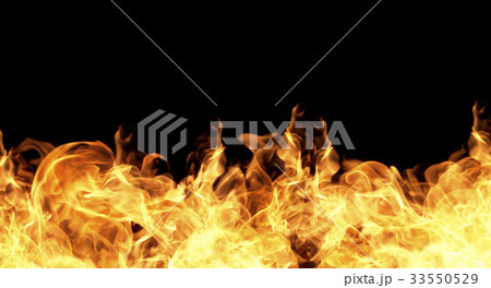 Fire flames on a black background 33550529