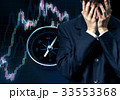 Businessman in despair on candlestick chart graphic 33553368