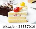 ケーキ ショートケーキ イチゴケーキの写真 33557010