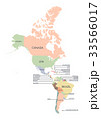 Map of America continent 33566017