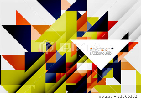 Triangle pattern design backgroundのイラスト素材 [33566352] - PIXTA