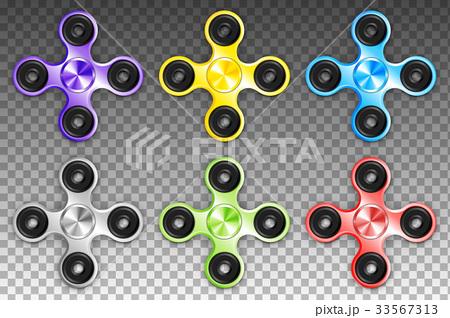 Fidget Spinners Popular Antistress Hand Toys. EPS 33567313