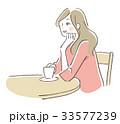 カフェ 女性 33577239