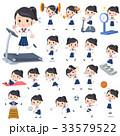 女性 学生 運動のイラスト 33579522