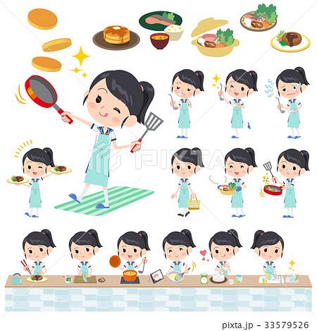 shortsleeved shirt Sailor suit_cooking 33579526