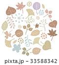 秋 枯れ葉 葉のイラスト 33588342