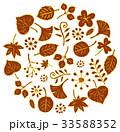 秋 枯れ葉 葉のイラスト 33588352