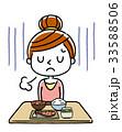 ベクター 女性 食欲不振のイラスト 33588506