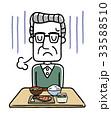 ベクター 食欲不振 ため息のイラスト 33588510