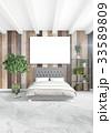 White bedroom minimal style Interior design with 33589809