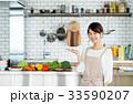 主婦 キッチン 食材の写真 33590207