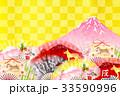 戌 戌年 年賀状のイラスト 33590996