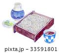 水彩イラスト 食品 蕎麦 33591801