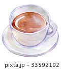 水彩イラスト 食品 コーヒー 33592192