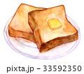 パン 食パン バターのイラスト 33592350