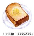 パン 食パン バターのイラスト 33592351