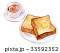パン 朝食 食パンのイラスト 33592352
