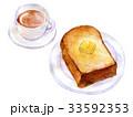 パン 朝食 食パンのイラスト 33592353