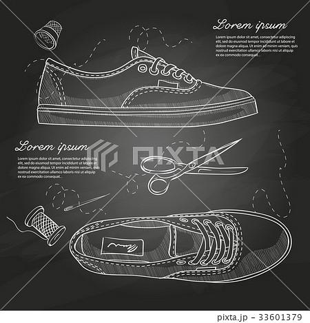 Fashion vector sketch womens shoes.のイラスト素材 [33601379] - PIXTA