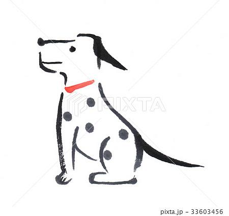 戌犬 年賀状イラスト 水墨画0014のイラスト素材 33603456 Pixta