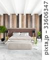 White bedroom minimal style Interior design with 33606347