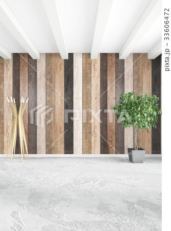 White bedroom minimal style Interior design with 33606472
