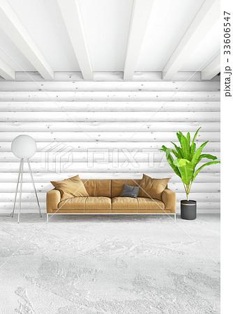White bedroom minimal style Interior design with 33606547