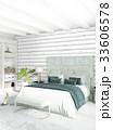 インテリア ベッドルーム 寝室のイラスト 33606578