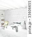 インテリア ベッドルーム 寝室のイラスト 33606655