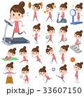 女性 主婦 スポーツのイラスト 33607150