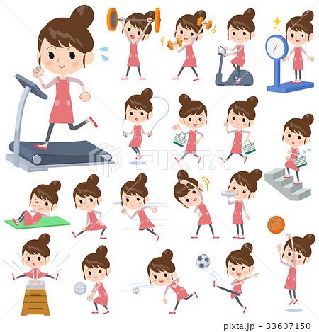Ballet Bun hair Apron mom_Sports & exercise 33607150
